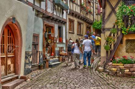 France, picturesque village of Eguisheim in Alsace